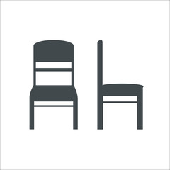 Chair icon. Vector illustration