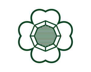 four leaf clover logo icon