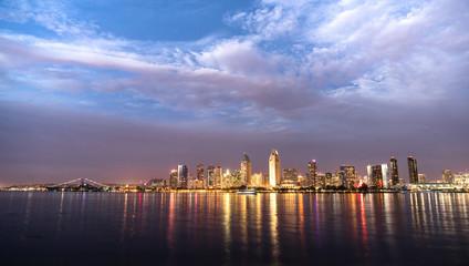 San Diego Skyline Downtown City Waterfront Coronado Island