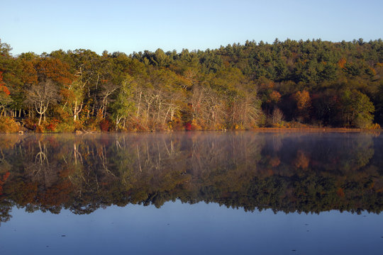 Fall Reflections on Houghton's Pond, Milton MA