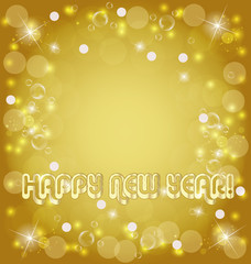 Happy new year golden background