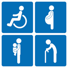 Socially vulnerable pictogram set.