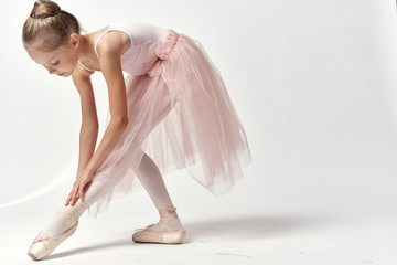 ballet dancer corrects pointes