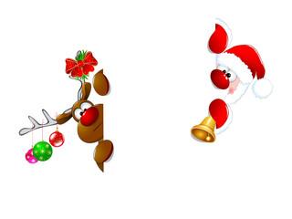Santa Claus and reindeer1