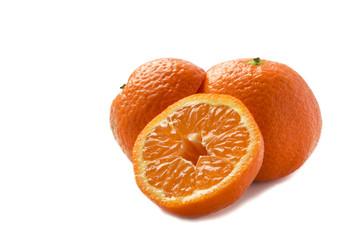 group of orange colorful juicy mandarins