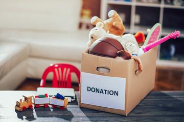 Toys donations box