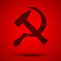 Hammer and sickle. Main Soviet symbol.