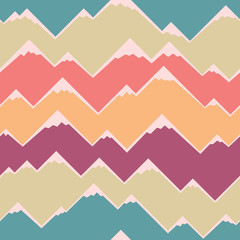 Abstract geometric pattern with colorful stripes. Abstract mountain background. Retro geometric pattern. Vector background.