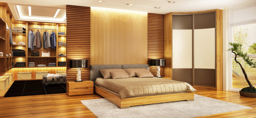 Bedroom with dressing room