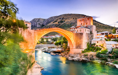 Wall Mural - Mostar, Stari Most bridge in Bosnia and Herzegovina