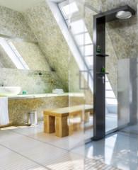 Badezimmer im Dachausbau (focus)