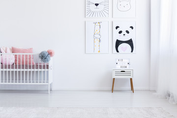 Kid's interior with drawings