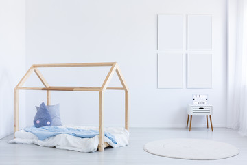 Boy's interior with blue accent