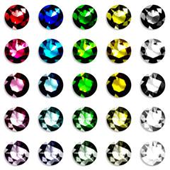 宝石 カラフル