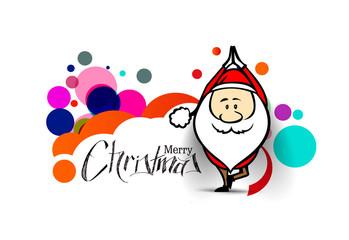 Santa Claus doing yoga, Christmas vector illustration. Holiday background.