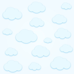 Clouds pattern background.