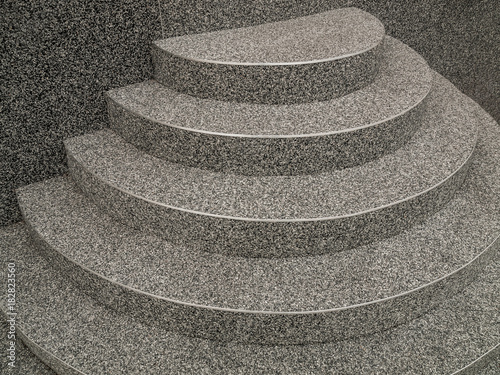 Steinteppich Treppe steinteppich treppe positive kegeltreppe in grau mit