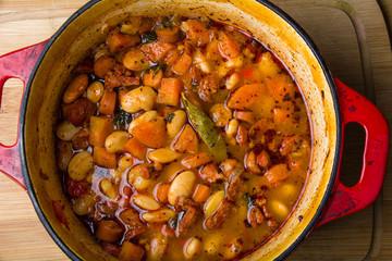 Bean Casserole with chorizo