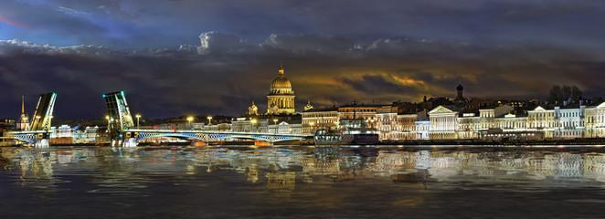 Panorama the English embankment in St. Petersburg