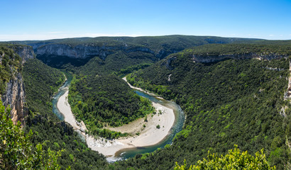 Deurstickers Canyon View of Ardeche Gorges