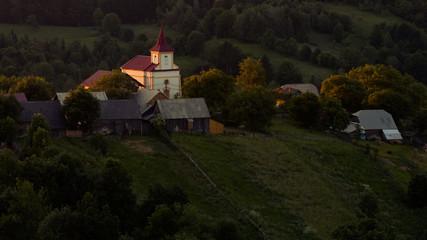 Church at sunrise