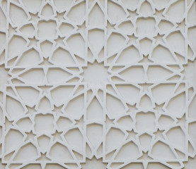 Wall Mural - tile with an abstract white ornate pattern