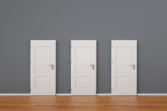 Drei Türen als Konzept für Entscheidung