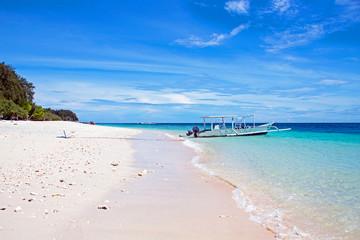 Beautiful beach on Gili Meno in Indonesia