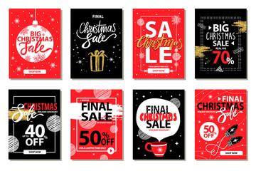 Final Big Christmas Sale Vector Illustration