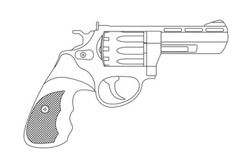 Revolver. Outline image