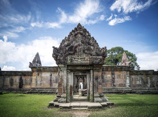 preah vihear famous ancient temple ruins landmark in cambodia