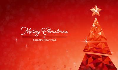 Weihnachten Tannenbaum - Rot EN