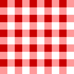 Seamless pattern of red and white cells. Stylish wallpaper of red and white cells. For design, textiles, packaging and printing. Vector.
