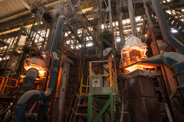Production process in the steel mill