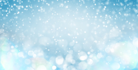 Winter gentle background with glare for design