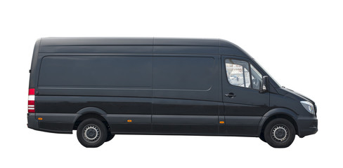 Transportation van on the white background