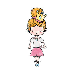 grated girl dancing ballet with crown decoration
