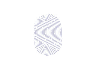 Fingerprint scan icon. Thumbprint vector
