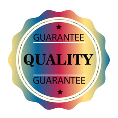 Guarantee Quality  colorful stamp. Vector illustration on white background.