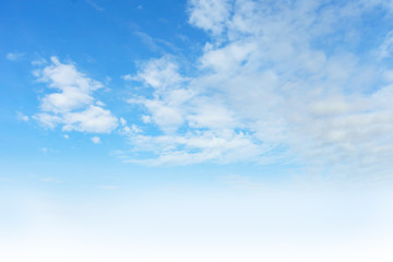 Nature background.Soft cloud in the blue sky in a day time.