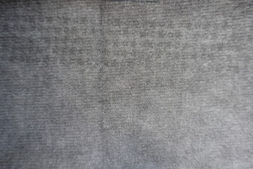 Top view of light grey jersey fabric