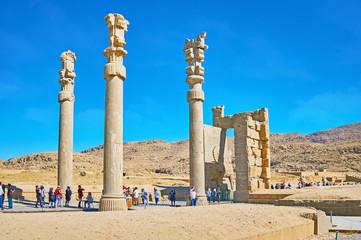 To pass through the Xerxes Gate, Persepolis, Iran