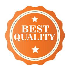 Best Quality orange  stamp. Vector illustration on white background.