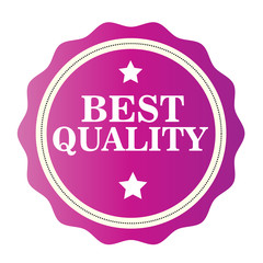 Best Quality  pink stamp. Vector illustration on white background.