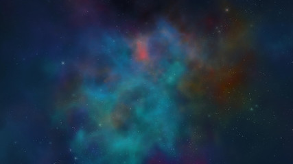 Abstract scientific background - galaxy and nebula in space. Space nebula, for use with projects on science, research, and education, illustration.