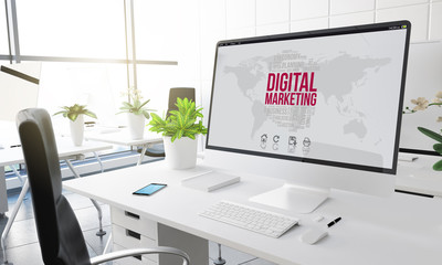 computer office digital marketing