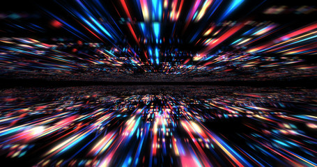 3D Futuristic abstract background. Motion graphic for abstract data center, server, internet, speed.  Wall mural