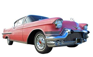 Foto auf Acrylglas Oldtimer pink car