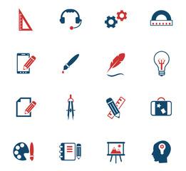 creative process color icon set