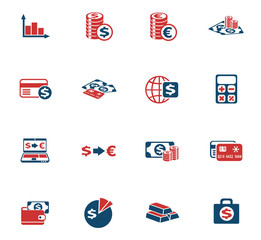 currency exchange color icon set